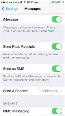 How to Change Message Settings on Your iPhone - dummies