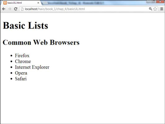 How to Create an Unordered List for HTML5 and CSS3