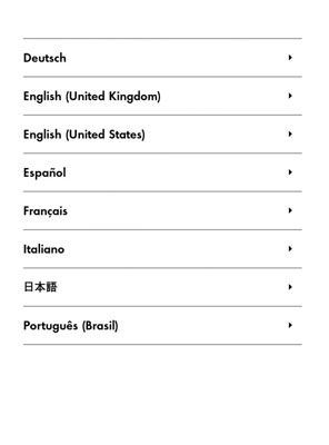 Select a language here on a first-generation Kindle Paperwhite.