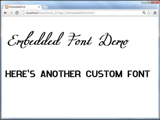How to Use Embedded Fonts for Your HTML5 and CSS3 Based Web