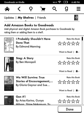 Kindle Paperwhite and Goodreads Integration - dummies