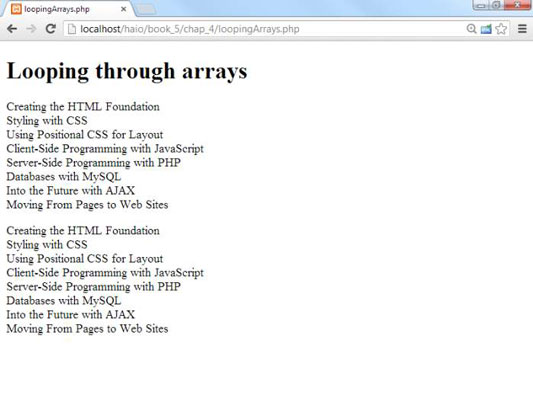 How to Use PHP Loops with Arrays for HTML5 and CSS3 Programming