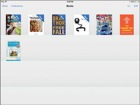 Your virtual iBooks bookshelf.
