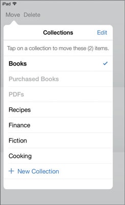 Choose the collection to move your book to.