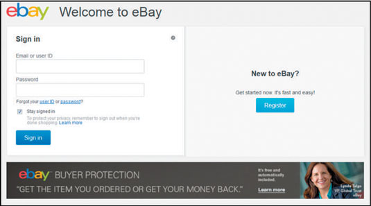 The Ebay Sign In Link Dummies