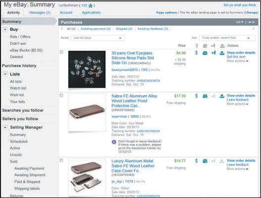 Follow The Ebay Navigation Links Dummies