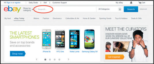 How To Use The Ebay Search Box Dummies