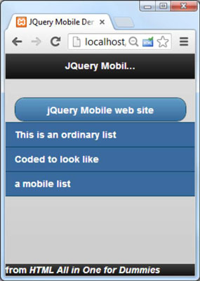 How to Build a Basic jQuery Mobile Page for HTML5 and CSS3