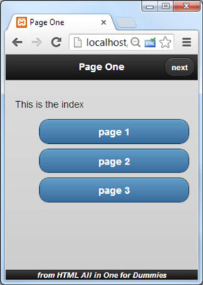 How to Build a Multi-Page Mobile Document for HTML5 and CSS3
