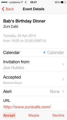 How To Respond Meeting Invitations In IPhone Calendar