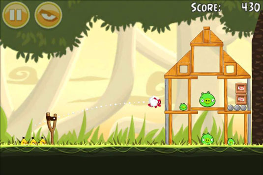 Angry Birds can become addictive.