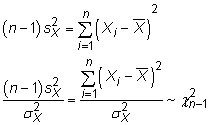 the chi-squared distribution appears when you algebraically manipulate the formula to estimate variance.