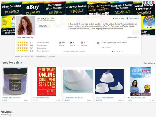 Your Ebay Profile Page Dummies
