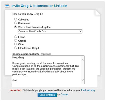 How to send a linkedin connection request to an existing member 2click the blue connect button to start the connection request stopboris Images