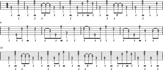 """""""Pretty Polly,"""" using old-time fingerpicking techniques."""