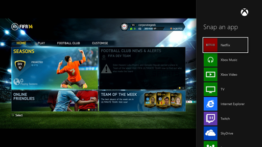 How to Snap Apps to the Side of the Screen in Xbox One - dummies