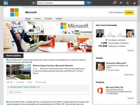 How to Search for Companies on LinkedIn - dummies