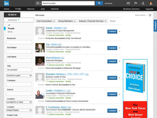 How to Use LinkedIn's Advanced People Search to Generate