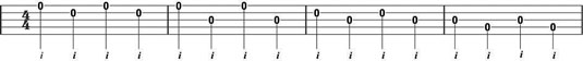 Clawhammer right-hand melody note exercise 2.
