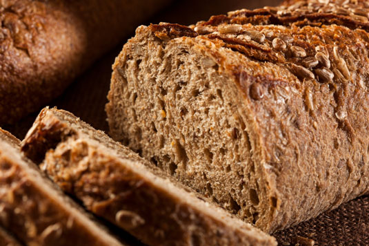 Loaf of rye bread.