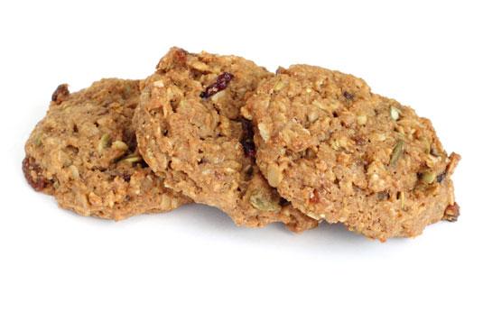 Raisin and nut cookies