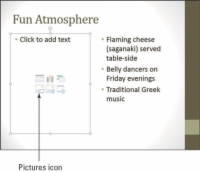 A PowerPoint slide with a placeholder where users can insert pictures and other files.