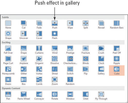 How to Apply a Transition to Slides in PowerPoint - dummies