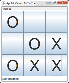 The Tic-Tac-Toe program as an applet.