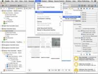 Xcode's Editor drop down menu.
