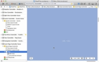 The web view preview in Xcode.