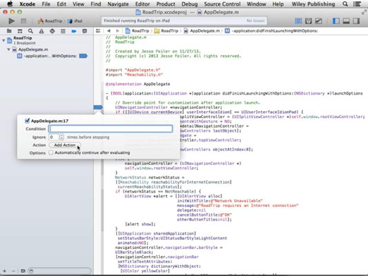 An open project in Xcode.