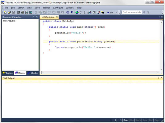 How to Edit Java 4E Source Files in TextPad - dummies