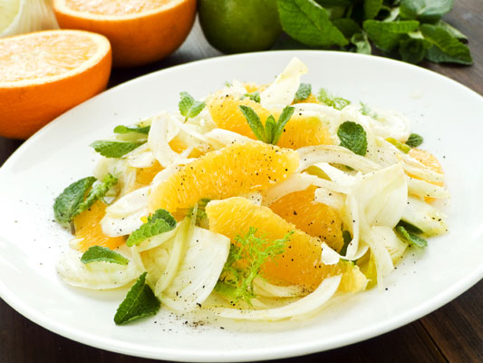 A fennel and orange salad.