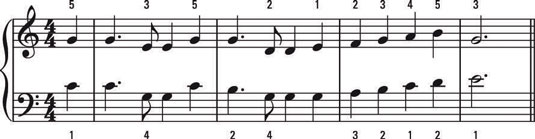 How to Combine Notes on the Piano or Keyboard for Harmonic