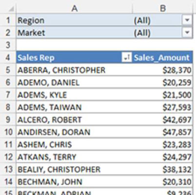use excel pivot tables to get top and bottom views dummies