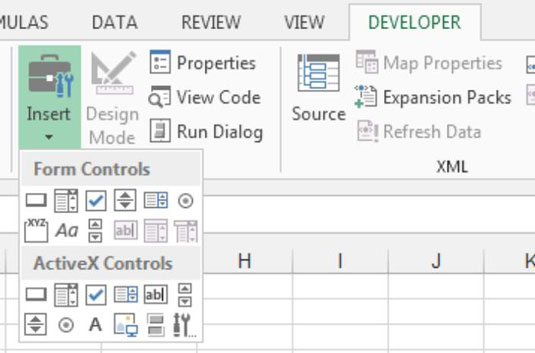how to find form controls for excel dashboards and reports - dummies