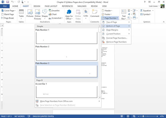 how to design headers and footers in word 2013