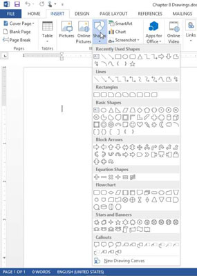 how to draw in word 2013