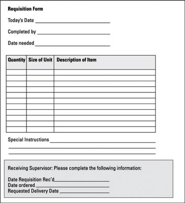 [Credit: Sample requisition sheet.© John Wiley & Sons, Inc.]