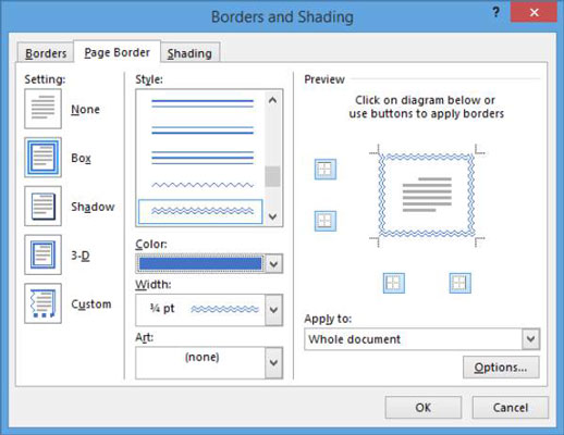 How To Add A Page Border In Word 2013