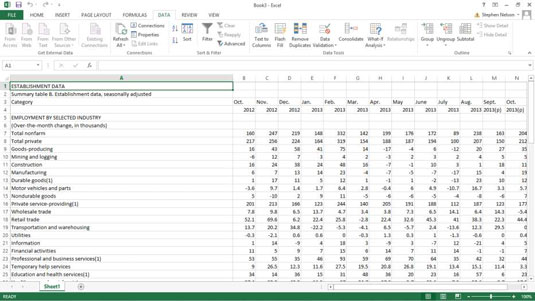 How to Run a Web Query in Excel - dummies