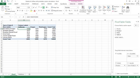 How to Add a Standard Calculation to an Excel Pivot Table - dummies