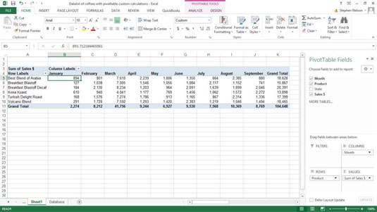 How to Create Custom Calculations for an Excel Pivot Table