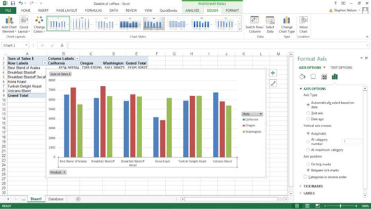 How to customize your excel pivot chart axes dummies the best way to find out what the format axis panes radio buttons do is to just experiment with them in some cases selecting the different axis radio ccuart Image collections