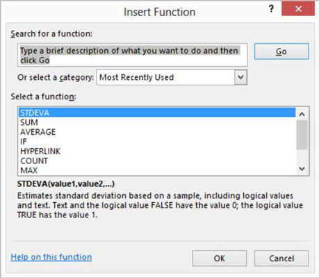 FORMULAS DUMMIES FOR EXCEL FUNCTIONS AND