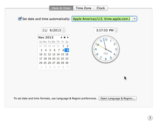How to Change the Date and Time on Your Mac - dummies