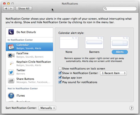 Manage how your Mac alerts you.