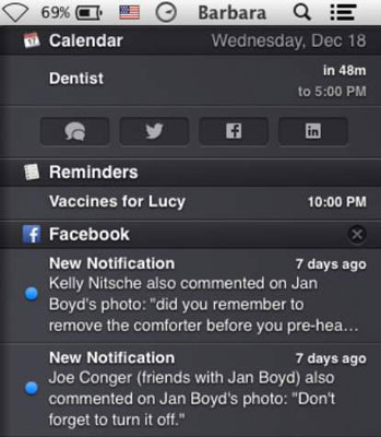 See notifications from different apps in one place.