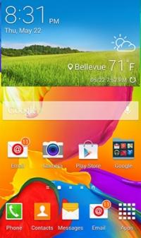 Samsung Galaxy home screen.