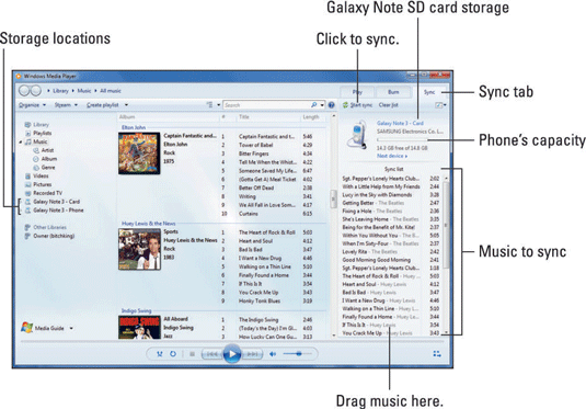 How to Import Music from a Computer to the Samsung Galaxy